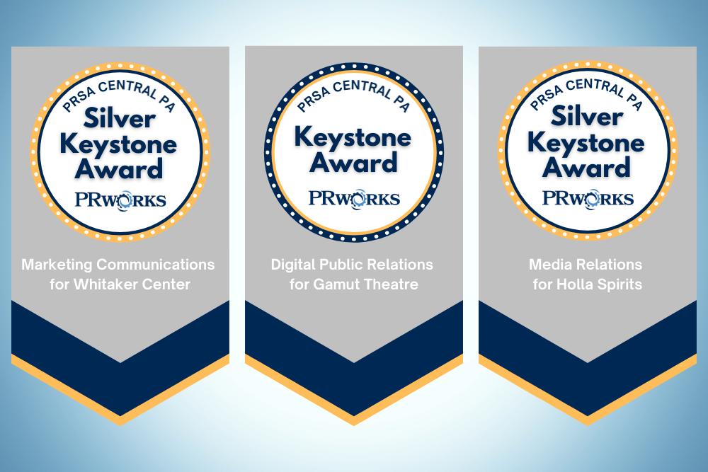 Three awards - 2020 Keystone Awards
