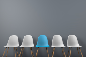row of chairs - recruitment blog image